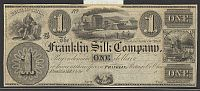Franklin, Ohio The Franklin Silk Company, $1 Remainder, vChAU